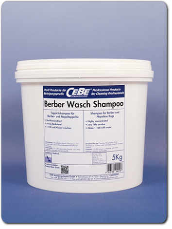 Berber Wash Shampoo - concentrated shampoo for in-plant rug washing in powder form from CEBE Reinigungschemie GmbH