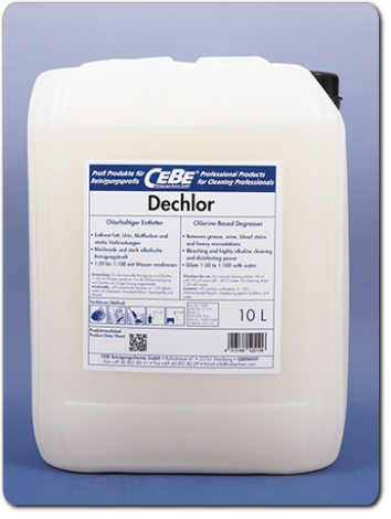 Dechlor - Chorine-based foam cleaner for gastronomy and food professing from CEBE Reinigungschemie GmbH