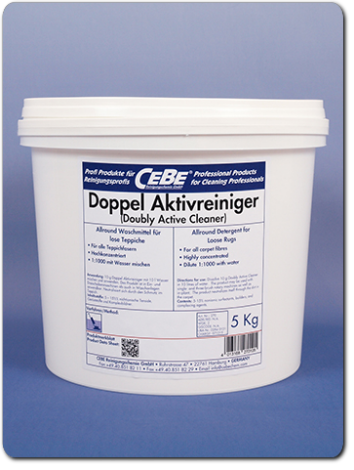 Doubly Active Cleaner - Ultraconcentrated detergent for in-plant rug washing in powder form from CEBE Reinigungschemie GmbH