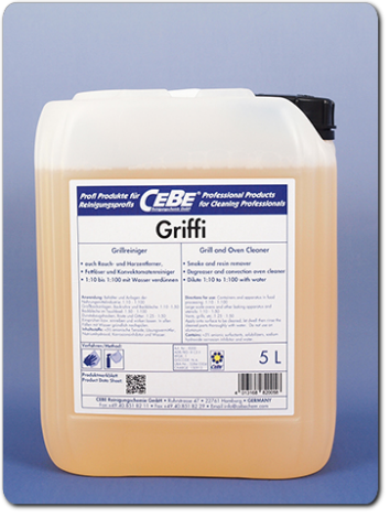 Griffi - highly alkaline grill and oven cleaner for gastronomy from CEBE Reinigungschemie GmbH