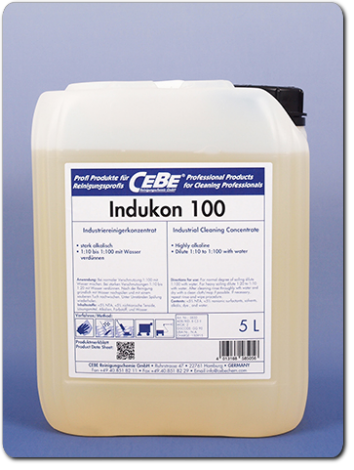 Indukon 100 - Industrial cleaning concentrate for alkaline-resistant surfaces from CEBE Reinigungschemie GmbH